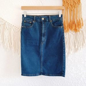 Charley 5.0 Dark Wash Denim Pencil Skirt